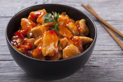 Sticker Chinese chicken sweet and sour sauce