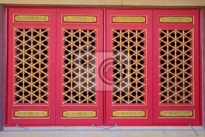 Chinesische Tempelfenster