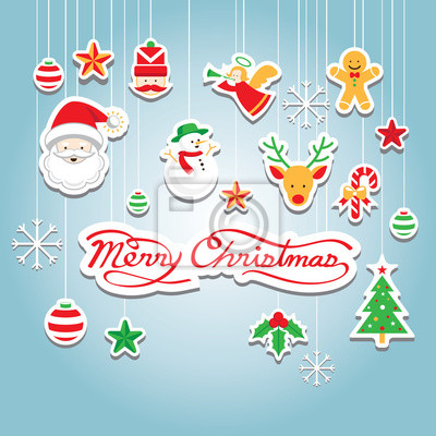 Christmas Icons: Objekte, hängende Dekoration