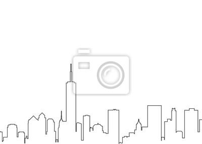 City landscape line