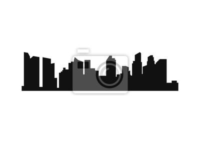 City landscape silhouette