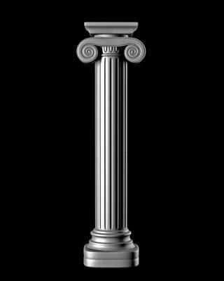 Sticker Classic Column auf schwarzem Hintergrund
