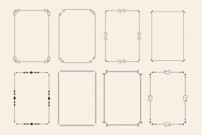 Sticker classic ornamental decorative frames set of eight