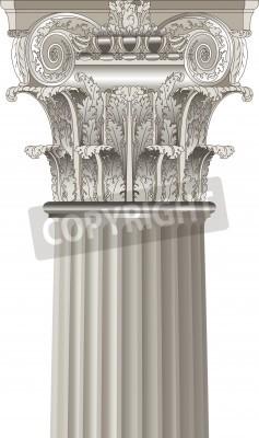 Sticker classical column