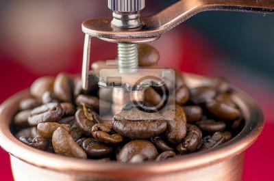 Close-up von einem altmodischen Kaffeemühle