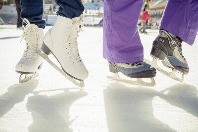 Sticker Closeup Eislaufen Eislaufen im Freien auf Eisbahn