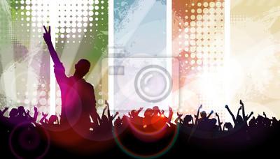 Clubbing. Musik-Ereignis Poster
