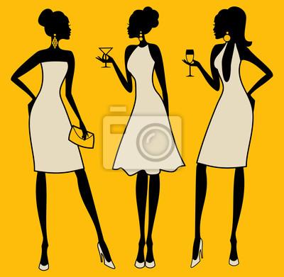 Cocktail-Party-Mädchen