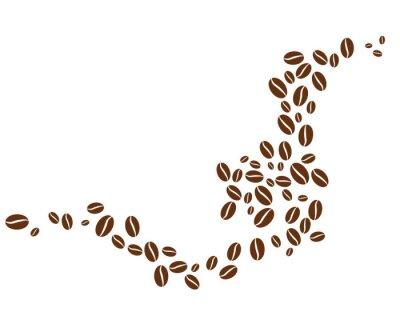 Sticker coffee bean icon vector