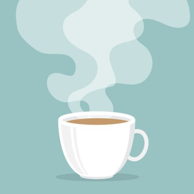 Sticker Coffee cup with smoke float up