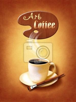 Coffee Menü für Restaurant, Café, Bar auf Leinwand Kunst backround