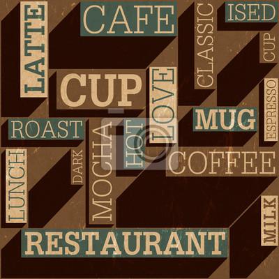 Coffee themed nahtlose retro Hintergrund, Vektor