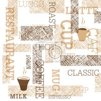 Coffee Themed Seamless Pattern