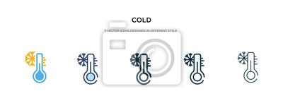 Sticker cold icon in different style vector illustration. two colored and black cold vector icons designed in filled, outline, line and stroke style can be used for web, mobile, ui