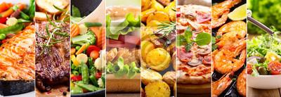 Sticker Collage von Lebensmitteln