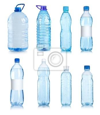 Collage von Wasserflaschen