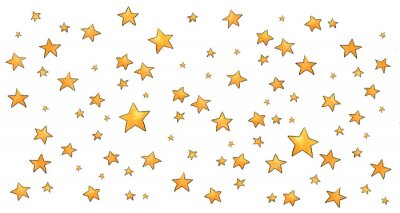 Sticker Collection of stars style sketch cartoon watercolor.