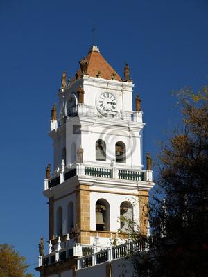 Sticker Colonial Turm der Kathedrale