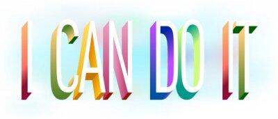 Sticker Colorful illustration of