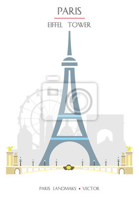 Colorful Paris landmark 4