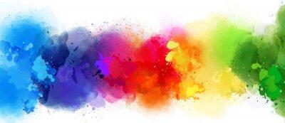 Sticker colorful splash background
