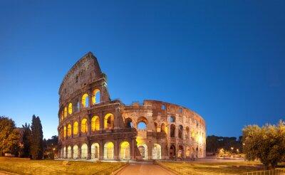 Sticker Colosseum nachts .Rome - Italien