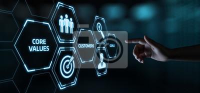 Sticker Core Values Responsibility Ethics Goals Company concept