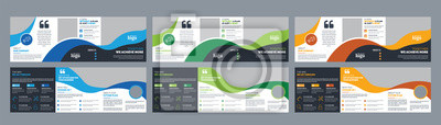 Sticker Corporate Square Trifold Brochure Design Template