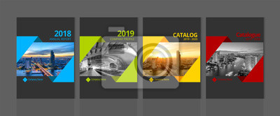 Sticker Cover design for annual report business catalog company profile brochure magazine flyer booklet poster banner. A4 landscape template element cover vector EPS-10 sample image with Gradient Mesh.