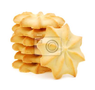 Cracker auf weißem Hintergrund