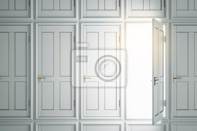 Creative white doors to success