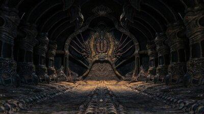 Sticker Creepy alien underground cave