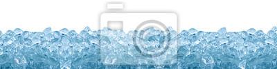 Sticker Crushed Ice Cube blauem Hintergrund isoliert auf weiß