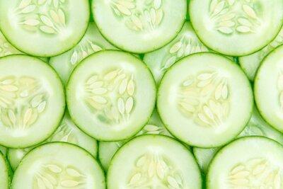 Sticker Cucumber slices background
