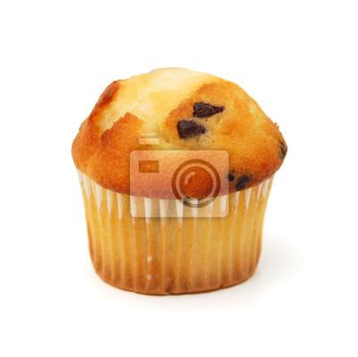 Cupcakes-Mischungen über weißem Hintergrund.