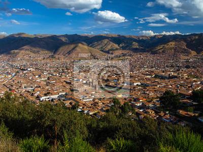 Sticker Cusco - globale Sicht