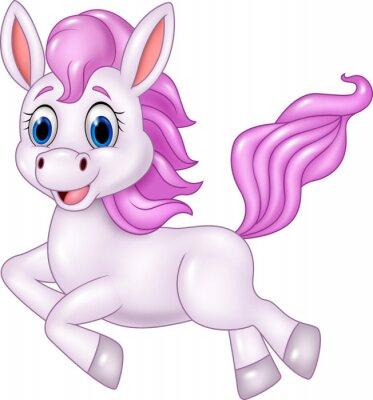 Sticker Cute Pony Pferd ausgeführt auf weißem Hintergrund
