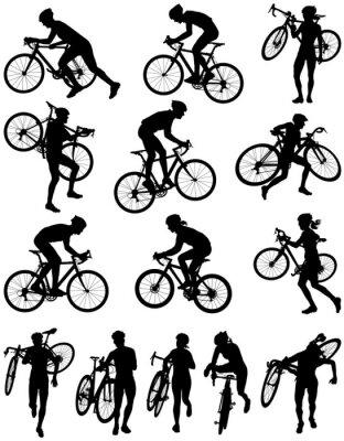Sticker Cyclocross-Rennen Vektor-Silhouette