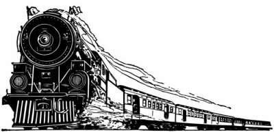 Sticker Dampf-Lokomotive