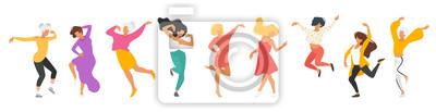Sticker Dancing people silhouette