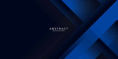 Sticker Dark blue background with abstract graphic elements for presentation background design.