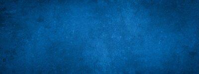 Sticker Dark blue stone concrete paper texture background banner panorama with vignette