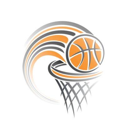 Sticker Das Bild eines Basketball-Ball