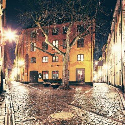 Sticker Das kleine Quadrat irgendwo in Gamla Stan, Stockholm.