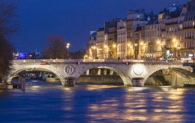 Sticker Das pont Saint Michel, Paris, Frankreich.