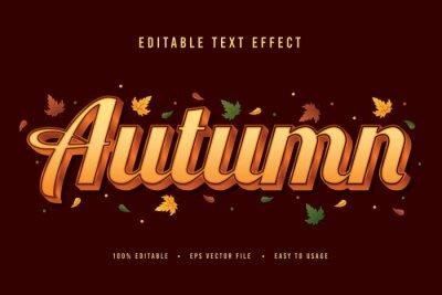 Sticker decorative autumn Font and Alphabet vector