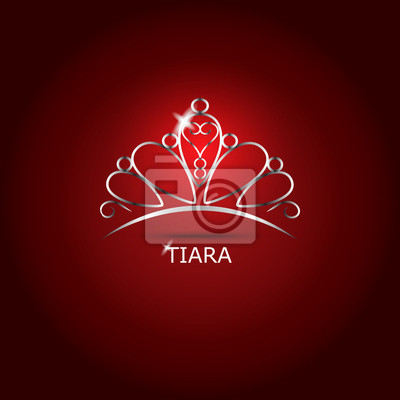 Decorative tiara beautiful shining, vector illustration.