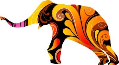 Sticker Dekorative Elefant