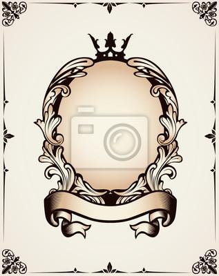 Dekorative königlichen Rahmen