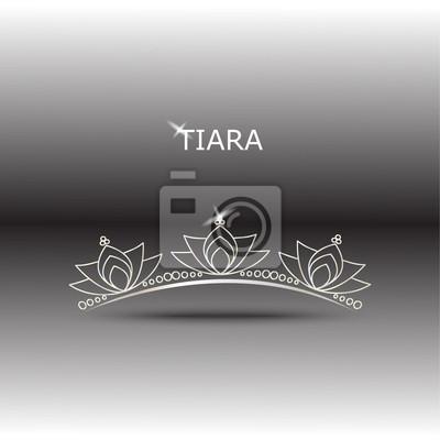Dekorative Tiara Schöne glänzende, Vektor-Illustration.